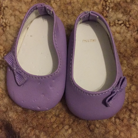 ebe659c8101b1 Purple American Girl Doll shoes with purple bow
